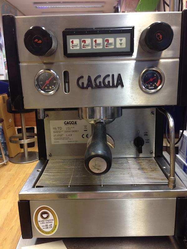 Compact 1 Group Gaggia coffee machine