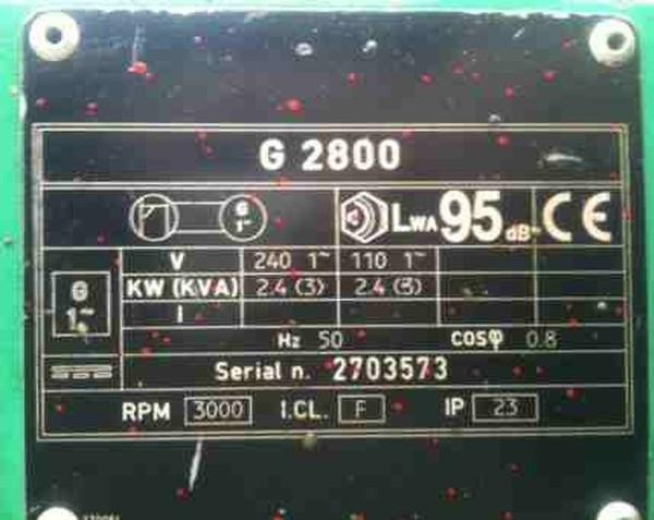 G2800 Petrol Generator