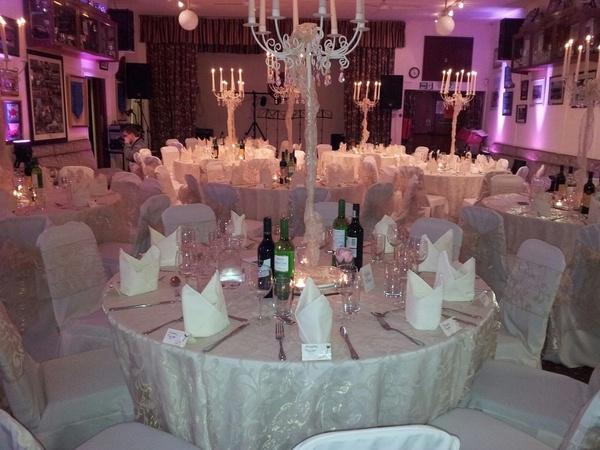 White themed wedding decor