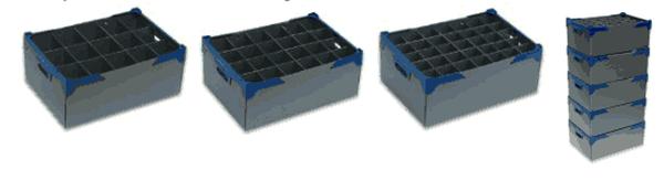 Glassjacks Glassware Storage boxes – Packs of 5 for sale