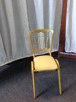 Golden metal gilt chair