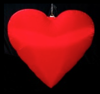 Inflatable heart decoration