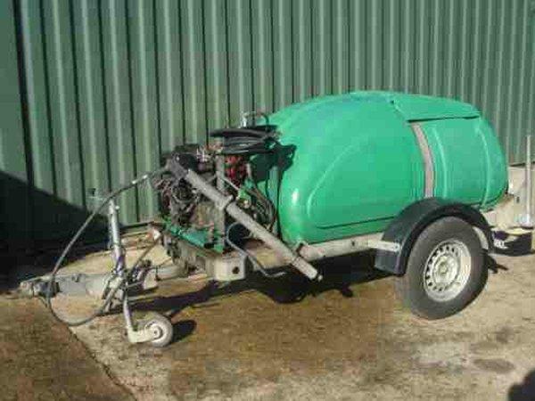 Jet washing trailer