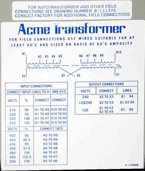 Acme Transformer