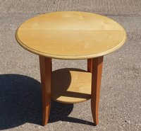 16 x Round Drinks Tables in Beech & Cherry Wood Finish