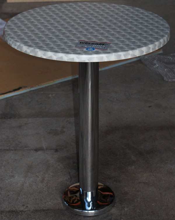 Floor Fix Chrome Table Base with top