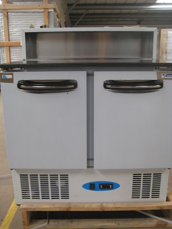 CPP200G 2 Door Granite Top Pizza Prep Chiller