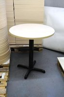 Round ash laminate tables