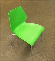 125x Green Stacking Plastic Dining Chair
