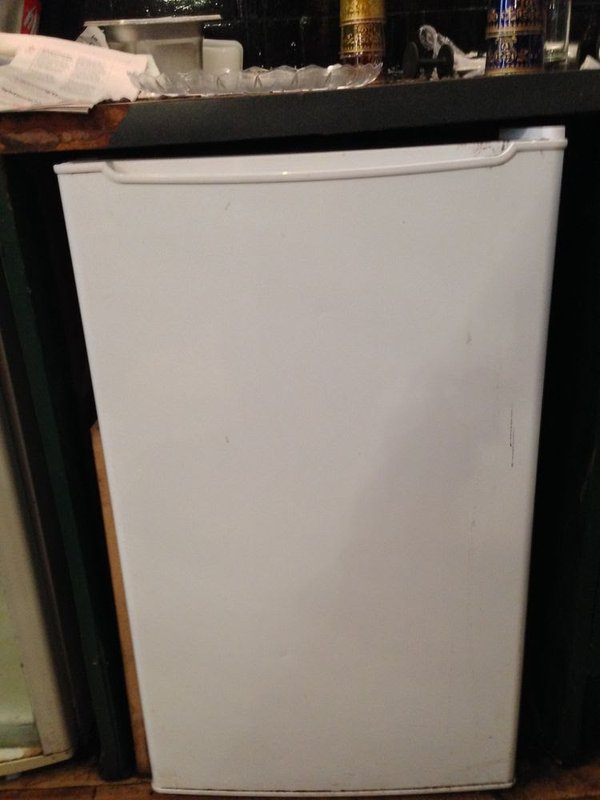 White under counter fridge
