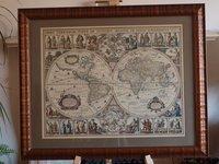 Framed World Map Print