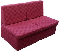 Red comfy sofa bed