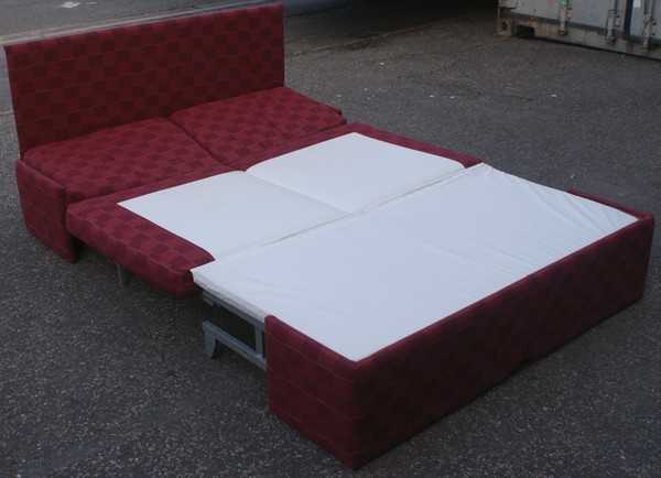 Sofa bed folded out