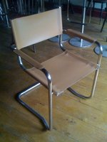 19x Leather & Chrome Delta Chairs