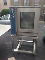 Gas convection oven on stand