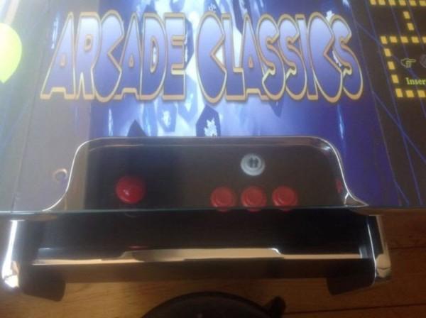 Retro arcade games machine