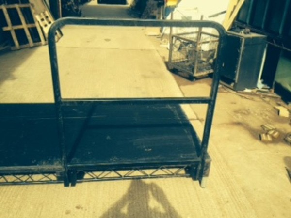 Steel deck with handrail