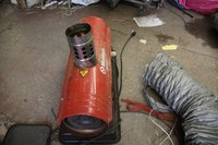 Munters indirect oil heater