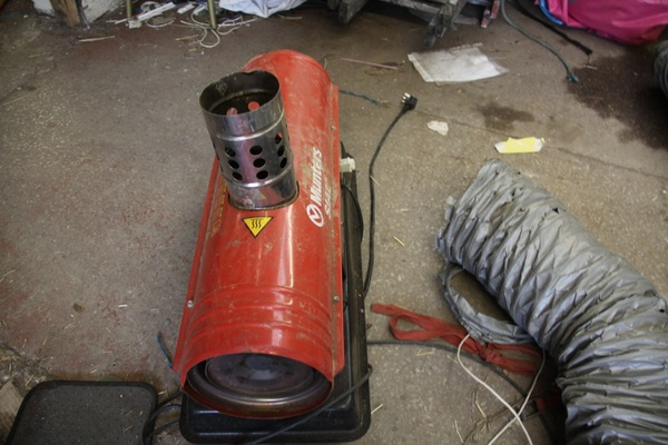 Munters indirect oil heater