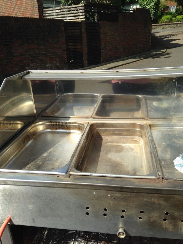 Mobile hot dog trolley