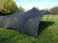 Black stretch tent