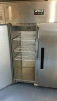 Stainless steel double door fridge