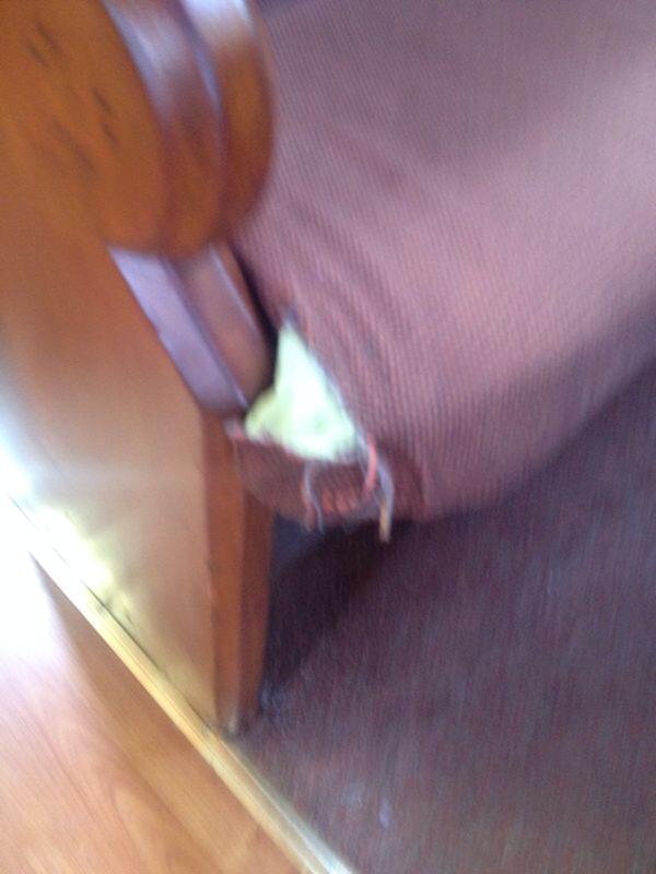 damage to cushion