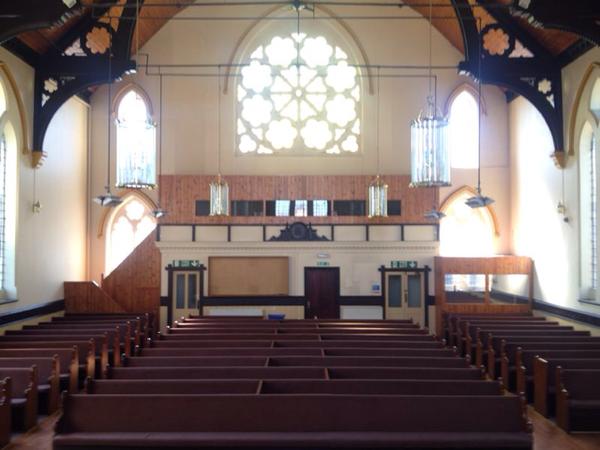 Long church pews