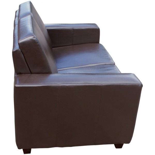 Brown Leather Commercial 2 Seater Settees