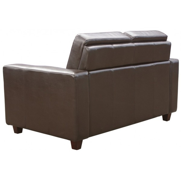 Brown Leather Commercial 2 Seater Sofas