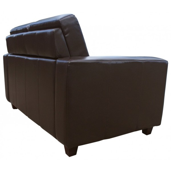 Brown Leather Mayfair Commercial 2 Seater Settees