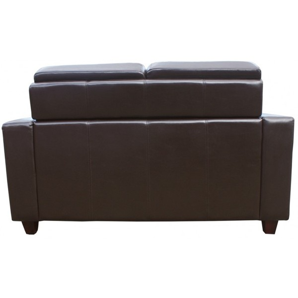 Brown Leather Mayfair Commercial 2 Seater Sofas