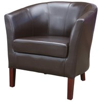 New Brown Faux Leather Mayfair Commercial Tub Chairs