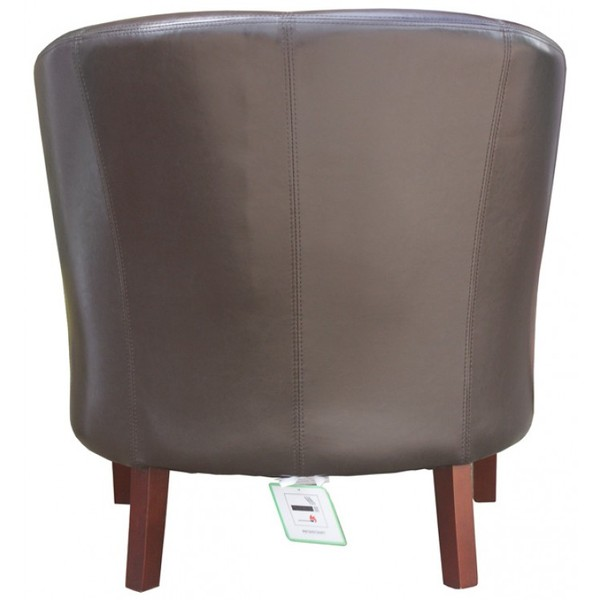 Brand New Brown Faux Leather Mayfair Commercial Tub Chairs