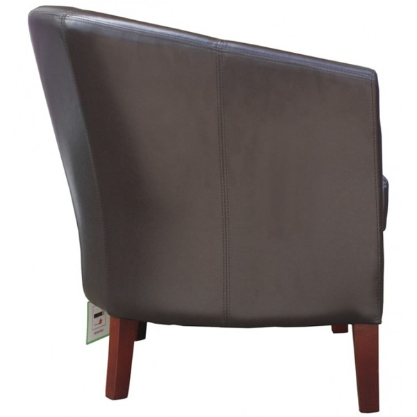 Buy New Brown Faux Leather Mayfair Commercial Tub Chairs