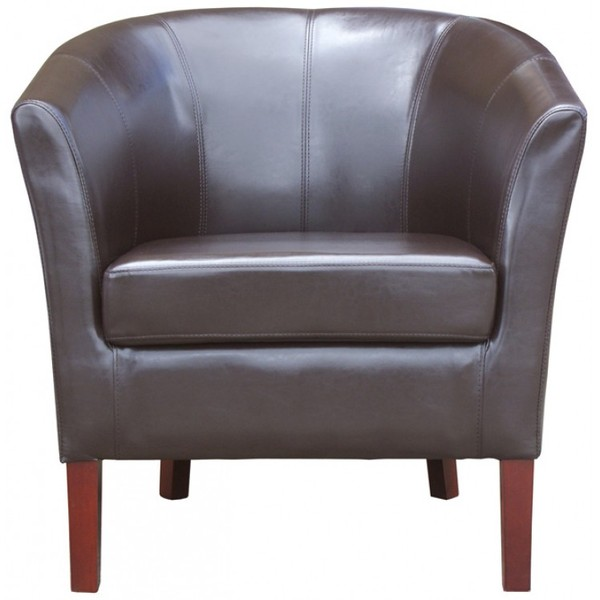 New Brown Faux Leather Commercial Tub Chairs
