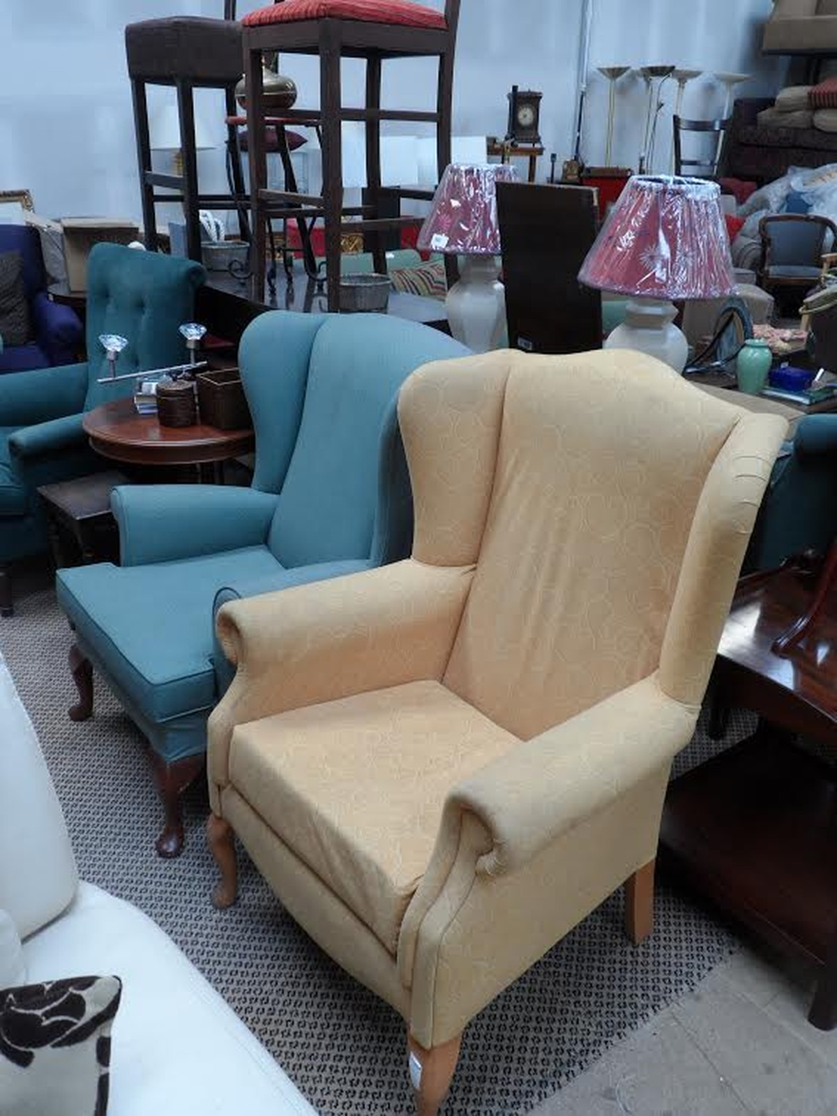 3x Wing Back Chairs Code Ch298 Sussex