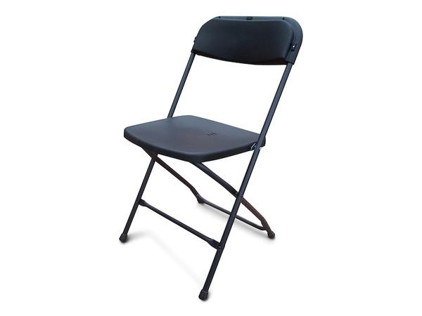 NEW Black Folding Plastic Samsonite Style Chairs