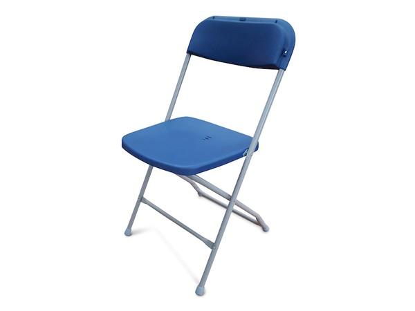 NEW Blue Folding Plastic Samsonite Style Chairs