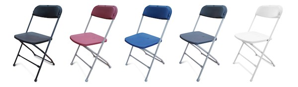 NEW Folding Plastic Samsonite Style Chairs