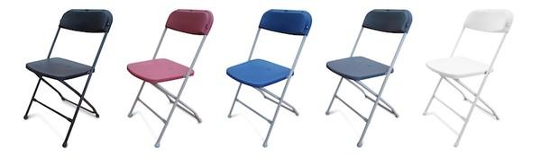 NEW Folding Plastic Samsonite Style Chairs