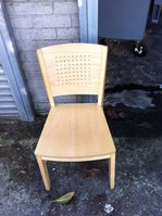 Light oak wooden chairs