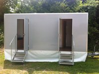 Brand new luxury 2+2 vacuum toilet trailer