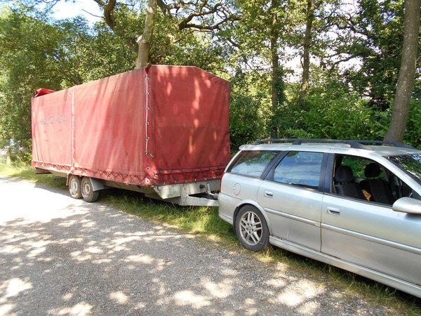 Large covered trailer