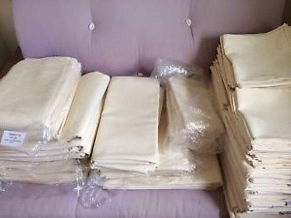 Second hand cream table linen