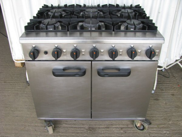 Lincat Six burner cooker LMR9-N