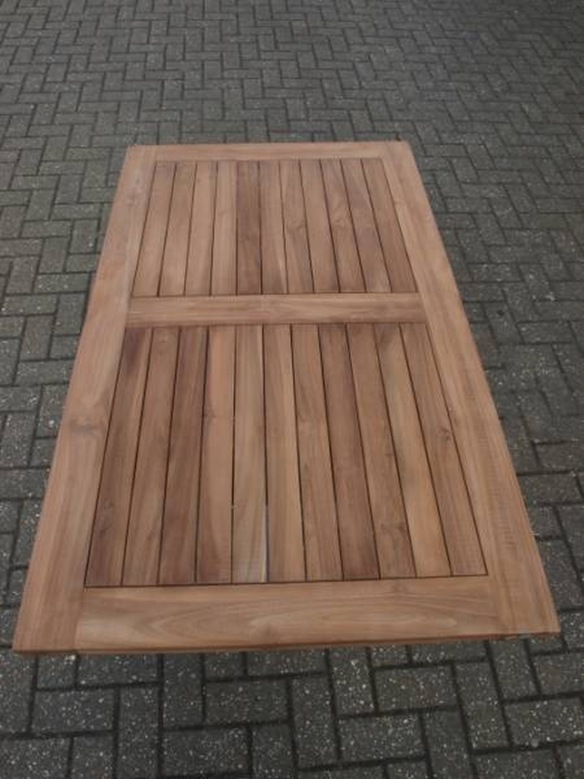 Secondhand Chairs And Tables Table Tops X Brand New - Solid teak outdoor table