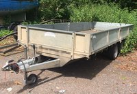 Used Graham Edwards 16ft Flatbed Trailer with sides