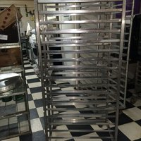 2 commercial bakery trolleys