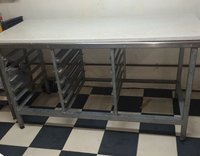 Marble Topped Prep Table from Bakery